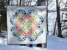 runsewfun: modern plus sign quilts - kaleidoscope plus