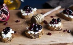 Pomegranate Blueberry and Goat Cheese Crostini | Tasty Kitchen: A Happy Recipe Community!