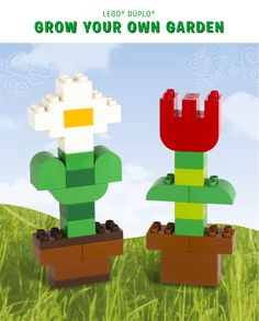 Creating your toddler's own little LEGO DUPLO garden will brighten up the gloomiest day. The best part? They can make it grow as fast as they want! Find inspiration for growing your own garden here: http://www.lego.com/en-us/family/articles/how-does-your-lego-duplo-garden-grow-efcdf74b169f4f8dbe776af7ce068edd
