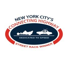 New York City's Connecting Highway Street Racing Car Sticker