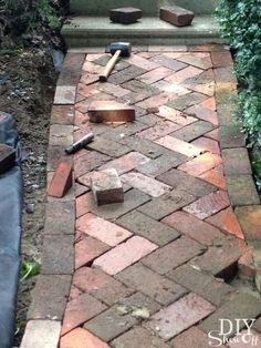 See What We Did With a Pile of Half Buried Bricks?