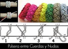 tutoriales para hacer pulseras de cuerdas diys