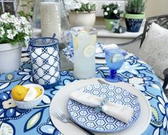 The Enchanted Home: Dining al fresco, my new tabletop has arrived and a winner!