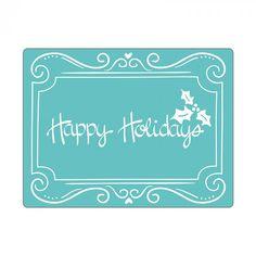 "Sizzix Textured Impressions ""Phrase Happy Holidays"" Embossing Folder"