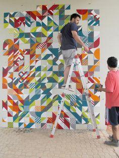 Geometria e cores nas intervenções urbanas do MUDA