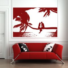 Beach Branch People Wall Art Sticker 145 - iconwallstickers.co.uk