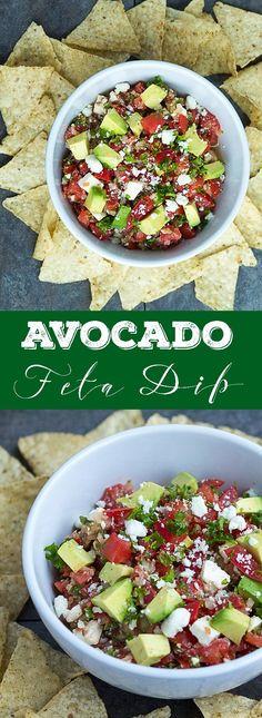 Avocado Feta Dip - Delicious dip, perfect for every party! | gatherforbread.com