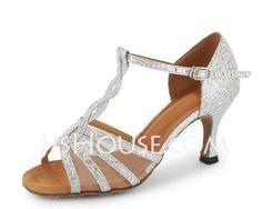 Tanzschuhe - $29.99 - Glitter Heels Sandalen Latin Salsa Tanzschuhe mit T-Riemen (053020380) http://jjshouse.com/de/Glitter-Heels-Sandalen-Latin-Salsa-Tanzschuhe-Mit-T-Riemen-053020380-g20380