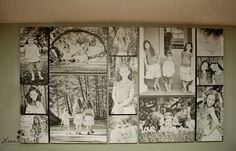 Amazing canvas grouping by Naomi Bluth. Composed of 2 10x20s 5 10x10s 2 16x20s and 2 20x24s