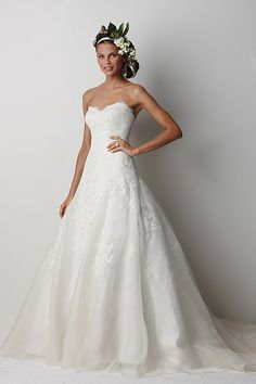 Watters Brides Devenport Gown-Simple yet so elegant. Love the lace.