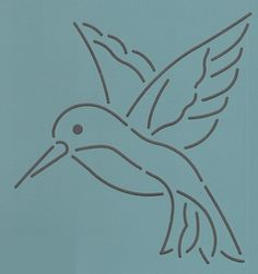 "Hummingbird 4"" - The Stencil Company"