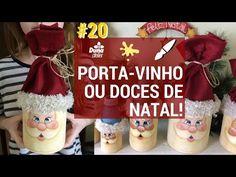 Coisas que Gosto: PORTA-VINHO OU DOCES COM ROSTO DE NOEL! PINTANDO C...
