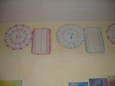 number wheels - I made these for my class and they loved them. Love the way the central number has been done on these.