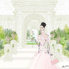 Chanel Haute Couture Show, Paris Fashion Week 2018 SS18 Tiffany La Belle Art & Illustration #chanel #ss18 #chanelhautecouture www.tiffanylabelle.com
