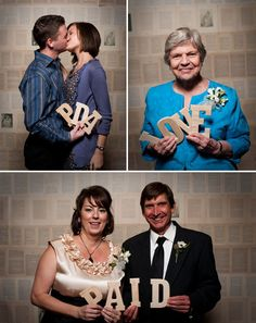 Fun idea!  From: http://greenweddingshoes.com/real-wedding-valerie-tylers-southern-wedding/