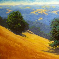 "Original art for sale at UGallery.com | Summer Hills by Steven Guy Bilodeau | $925 | oil painting | 24"" h x 24"" w 