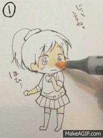 Colouring Chibi girl its so damn adorable Anime Chibi, Anime Pokemon, Anime W, Anime Kawaii, Otaku Anime, Kawaii Chibi, Manga Drawing, Manga Art, Drawing Gif