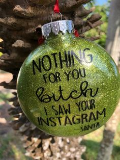 traditional christmas tree Rude Tree Ornaments For People Who Hate Christmas Traditional Christmas Ornaments, Funny Christmas Ornaments, Naughty Christmas, Diy Christmas Ornaments, Christmas Humor, Simple Christmas, Holiday Crafts, Christmas Vinyl, Glitter Ornaments