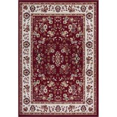 Well Woven Miami Bijar Classic Traditional Area Rug, Red