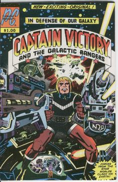 """Comic book cover for the Jack Kirby Pacific Comics """"classic"""" Captain Victory and the Galactic Rangers"""