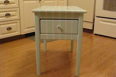 Beachy hand painted table