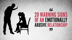 20 warning signs of an emotionally abusive relationship. My relationship with my family.