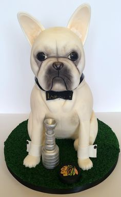 French Bulldog Cake by Jessica James