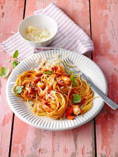 Spaghetti aglio olio e scampi