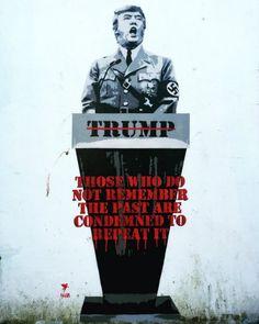Donald Trump - By Pegasus in Bristol, UK - Street Art Utopia Arte Banksy, Banksy Art, Bansky, Banksy Quotes, Banksy Tattoo, Street Art Banksy, Street Art Utopia, Urbane Kunst, Political Art