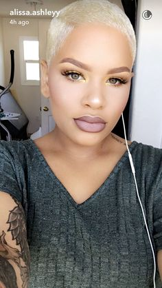 TOP 30 Hair Сolor Ideas With Golden and Platinum Blonde Pixie Cut for African American Woman Short Sassy Hair, Short Hair Cuts, Short Hair Styles, Natural Hair Cuts, Natural Hair Styles, Short Blonde, Blonde Hair, Blonde Twa, Blonde Pixie