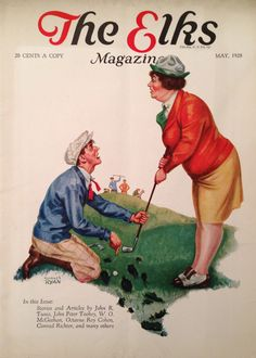 The Elks Magazine May 1928 Lady Golfer Cover