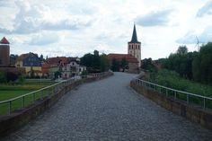 Blick von der Brücke auf Vacha