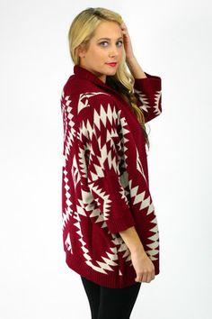 Aztec Knit Cardigan - $45.99