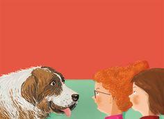 """Such a big dog!  Ania Simeone's illustration form book """" Troll z ulicy Lipowej"""", Wydawnicwto Zielona Sowa, 2017"""