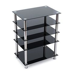 Use it as a standalone media shelf, or under your wall mounted TV. Ample storage space can maintain most AV and speaker equipment. Supports Plasma/LCD/LED flat TVs, gaming consoles, cable boxes, amplifiers, speakers, etc. Local Sales Automation Accelerator The Ultimate PLR Firesale The Ultimate... more details available at https://furniture.bestselleroutlets.com/game-recreation-room-furniture/tv-media-furniture/audio-video-shelving/product-review-for-rfiver-5-tier-black-glass