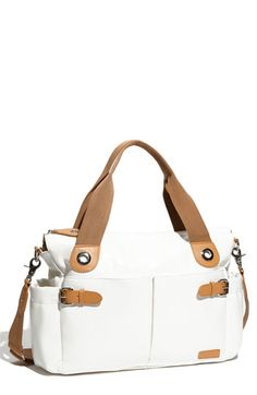 Storksak Patent Diaper Bag, love that it doesn't look like a diaper bag! I drooled over the black one forever