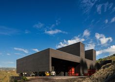 This winery is clad in black brick to minimise its visual impact on the surrounding landscape
