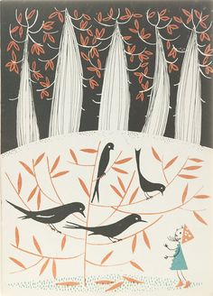 children's book design in poland (1960s) by Zdzisław Witwicki for Z przygód krasnala Hałabały, 1960