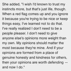 Sophia Bush quote from interview. Perfectly said. Always trust your instincts. Your own opinions matter!