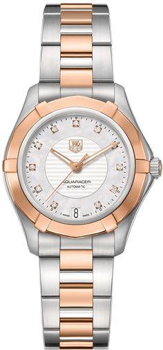 3ee16961c0d Tag Heuer Aquaracer 200M Authentic Women's Dress Watch WAP2351.BD0838