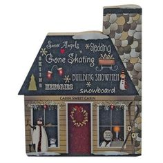 KP Creek Gifts - Winter Words Chunky Cabin