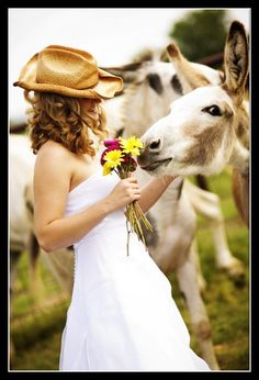 This reminds me of my grandparent's sweet donkey...Jennie.  Loved her!
