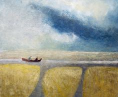 David Brayne RWS, Channel No. 1, watercolour & bodycolour. Contact info@banksidegallery.com for further details. See www.banksidegallery.com for other prints and paintings.