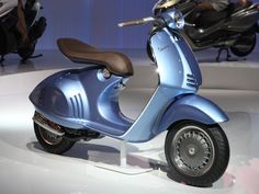 "- Design Is This - - The new Vespa 46 ""Quarantasei"" by Piaggio, blends modern technology with the vintage Vespa style and heritage, into a stunning new scooter. Scooters Vespa, Motos Vespa, Piaggio Vespa, Vespa Lambretta, Motor Scooters, Vespa Vintage, Vintage Bikes, New Vespa, Motorcycle Bike"