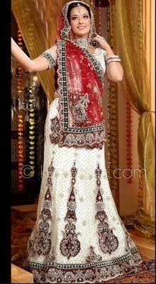 Gorgeous Off White Lehenga Choli