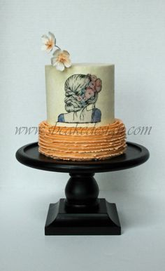 Painted Girl Cake