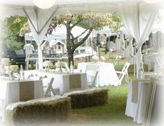 Beautiful mix of burlap and elegance in table setting-good idea for a garden wedding
