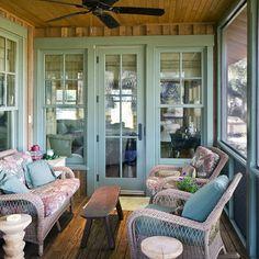 Screen porches color door porch idea back porches - Small enclosed porch ideas ...