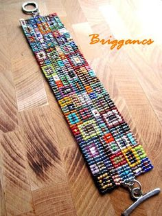 """Patchwork bracelet"" by artist Brigi (Hungary), on her blog http://briggancs.blogspot.com 