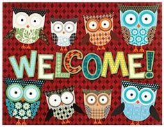 Owls Welcome Chart - Go out on a limb this #school year with owl-themed #classroom decorations and organizational supplies. Choose from our collection of borders, notepads, charts, cutouts, awards, and a lot more! #Teaching has never been such a hoot!